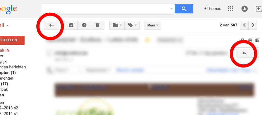 Gmail ambiguous icons