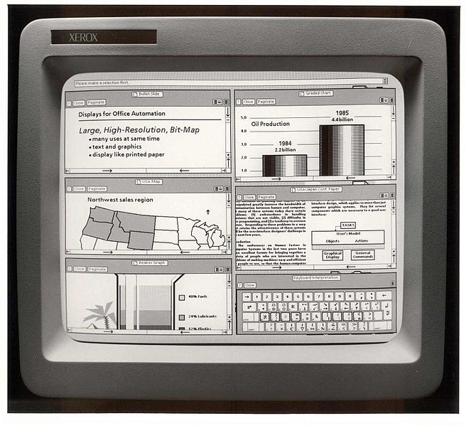 First commercial GUI: the Xerox Star in the 70s