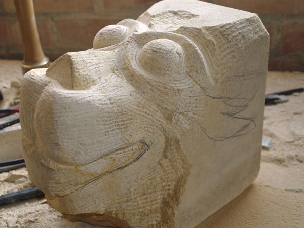 Stone carving follow-up, photo by Eilidh Fridlington
